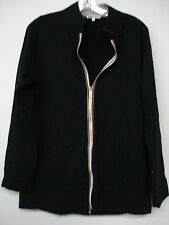 NWOT Women's Hue To Go Zip Up Cotton Jacket Size Small Black #445A