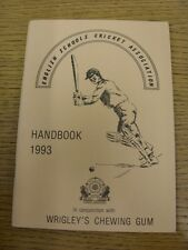 1993 Cricket: English Schools Association - Handbook. Thanks for taking the time