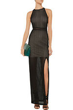 ALICE + OLIVIA Black Ida knitted maxi dress