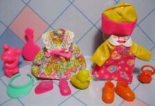 Kelly Shelly Friends DOLL Clothes/Shoes-FISH RAIN DAY COAT/SUN FLOWER DRESS SET