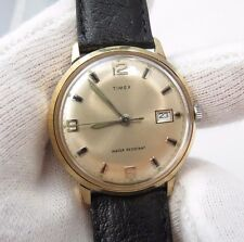 """TIMEX,70's,Manual Wind.""""Round Date/just Glow Markers"""" CLASSIC! MEN'S WATCH,416"""