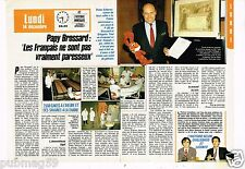 Coupure de presse Clipping 1987 (2 pages) Victor Scherrer Papy Brossard