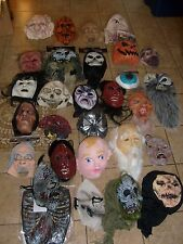 28 HUGE HALLOWEEN PARTY COSPLAY WHOLESALE MASK LOT CLOWN GHOST ZOMBIE APX $4 E