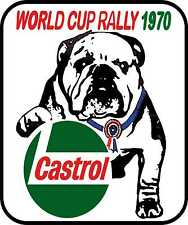 Motorsport Exterior Vinyl Stickers Decals World Cup Rally 1970 Castrol Rally Car