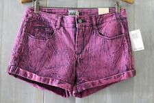 NWT DICKIES Pop Art Fuchsia Pink Purple ACID WASH STriped Denim SHORTS 9