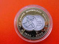 *Münze/Medaille 150 Jahre Schweizer Währung PP/Farbenopl.. *5 Fr. Münze
