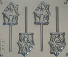 HAUNTED HOUSE CHOCOLATE LOLLIPOP MOULD 4 CAVITY HALLOWEEN SPOOKY TRICK OR TREAT