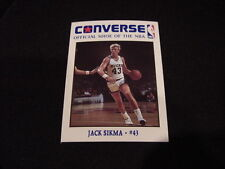 ULTRA RARE 1989 Converse Shoes Jack Sikma Card, Milwaukee Bucks, MINT!