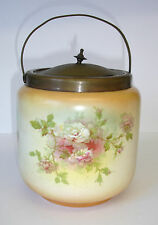 Art Nouveau Blush Ivory Vintage Biscuit Barrel Vintage Ice Bucket Peek Frean