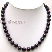 "SALE Big 10-11mm AAA Round High quality garnet gemstone Beads 18"" necklace-n5541"