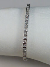 Elegante Bracciale Tennis-con 53 diamanti occupato - 1,06ct - 750er ORO BIANCO 18k