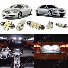 9x White LED lights interior package kit for 2008-2014 Infiniti G37 Coupe  IG3W