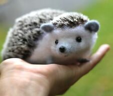 Hedgehog needle felted realistic wool sculpture ooak