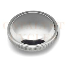 Chrome Vented Gas Cap for Harley Gas Tank & Peanut Tank Bobber Style Cap 73-82