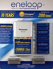 Panasonic Eneloop Rechargeable Battery Kit w/8 AA 4 AAA  Plus Charger