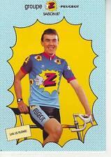 CYCLISME carte cycliste LOIC LE FLOHIC équipe Z  peugeot 1987