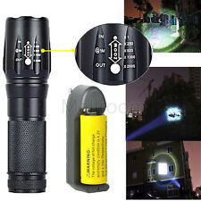 Tactical 5000LM XM-L T6 LED Zoom Taschenlampen Torch Light Lamp+26650+ladegerät