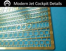 airscale Photo-Etch Modern Jet Cockpit Details - 1/48 scale  PE48 MOD