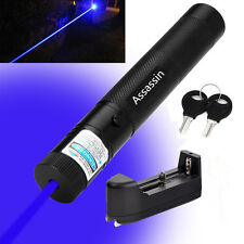 Blue Purple Cat Toy Laser Pointer 5mw 405nm Powerful Laser Pen + Battery+Charger