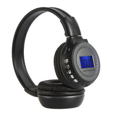 Wireless Stereo Headphone Headset MP3 SDCard Music Player FM Radio LCD Display R