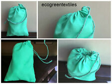 100 (4x6) Original Green Cotton Muslin Drawstring Bags ~PREMIUM QUALITY BAGS ~