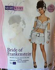 Bride of Frankenstein ADULT Costume Sexy Secret Wishes Rubie's MEDIUM incl Wig