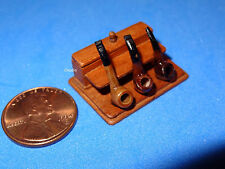 OOAK Miniature Handmade Artist Pipe Box by Taller Targioni w/ 3 Pipes 1:12 Scale