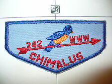 OA Chimalus Lodge 242,F-1a,1950s Bluebird First Flap,FF,57,67,130,275,497,540,PA