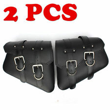 2x PU Leather Motorcycle Saddle Side Bags for Harley Davidson Sportster XL883 NR