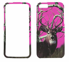 Pink Deer  Camo for Apple iPhone 5 5S Rubberized Feel Case Cover