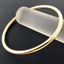 AN911 GENUINE REAL 18K YELLOW G/F GOLD SOLID LADIES GOLF CUFF BANGLE BRACELET