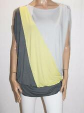 A wear Designer Colour Block Tunic Top Size 14-L BNWT #TC09
