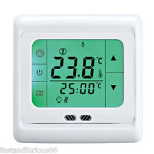 Digital Room Floor Heating Thermostat Temperature Controller 5+2/6+1/7d w/Sensor