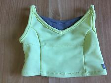 American Girl doll tlc top only from Tennis Skirt Outfit yellow gray retired