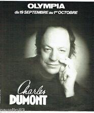PUBLICITE ADVERTISING 036  1978  Charles Dumont  en concert à l'Olympia