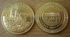 Medal Tourism Sacre Coeur Montmartre France Monnaie de Paris 2014 Gold Color