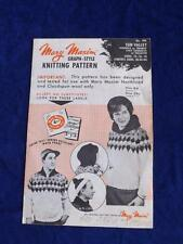 MARY MAXIM KNITTING PATTERN GRAPH STYLE SUN VALLEY WOMENS TEENERS CARDIGAN