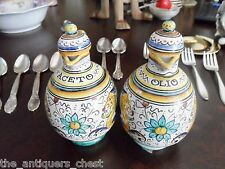 Deruta Dragon Oil & Vinegar Cruet Set , Olio & Aceto , made in Italy[4-34]