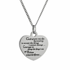 Stainless Steel Serenity Prayer Pendant, Serenity Jewelry, Serenity Necklace