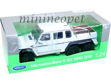 WELLY 24061 2014 14 MERCEDES BENZ G 63 CLASS AMG 6 x 6 1/24 DIECAST WHITE