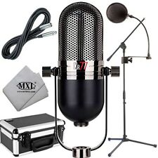 MXL CR77 SuperCardioid Vocal Microphone w/ Aluminum Case Stand Filter & Cable