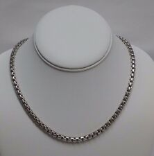 "Sterling Silver 925 VENETIAN Box Chain Necklace ITALY 5mm 18"" 59 +gr FANTASTIC!"