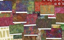 Batik Fabric Strips Pack Bargain  100% Cotton, Sold by the Pound Quality Cottons