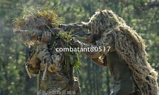 3D Camouflage Cloak Desert Sand Ghillie Suit Bionic Training Bowhunt Sniper