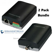2 Pack Set Grandstream IP Video Encoder Decoder Analog Video PA POE GXV3500 x2