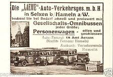 Laewe Omnibusse Busse Selxen bei Hameln Reklame 1934 Busgesellschaft Amt Aerzen