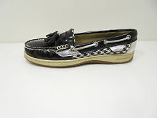 "Cute! Womens Houndstooth ""Sperry Top-Sider Tasselfish"" Boat Shoes - Size US 7 M"