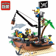 ENLIGHTEN Pirates of the Caribbean Scrap Dock Model Blocks Minifigures Gift Toys