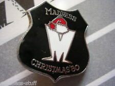 MADNESS - BLACK XMAS 1980 DIAL-A-STYLE ENAMEL BADGE - SUGGS SKA TWO 2 TONE STIFF