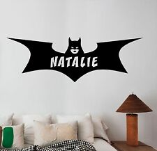 Personalized Name Batgirl Wall Decal Superhero Custom Vinyl Sticker Decor btg10